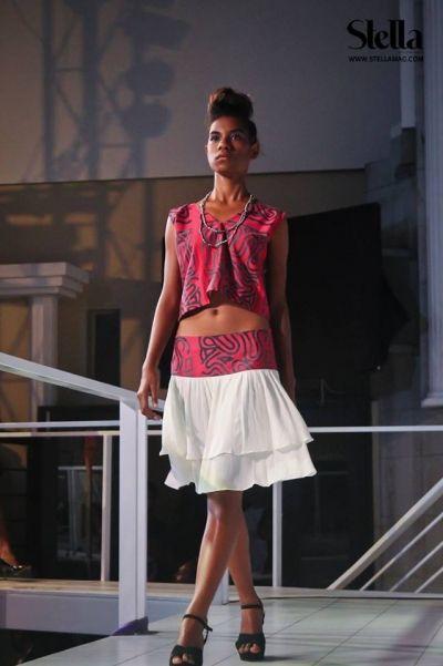 Loving Anna Amos's designs. This number rocks: Mini-top and Skirt. #AA Tribal Fashion# Anna Amos...