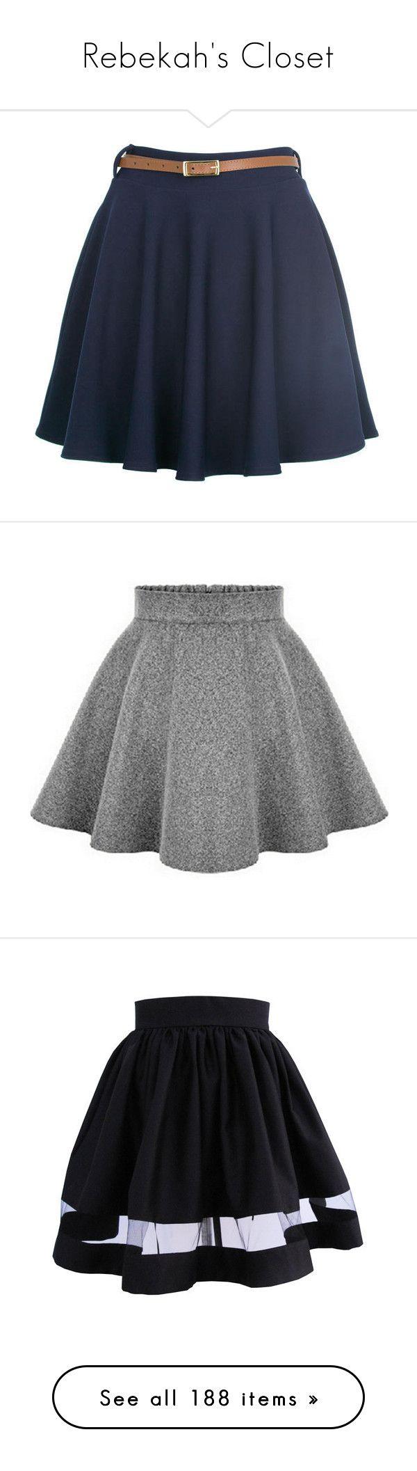 """Rebekah's Closet"" by booknerd7 ❤ liked on Polyvore featuring skirts, mini skirts, bottoms, saias, faldas, army skirt, military skirt, burgundy skirt, gray skater skirt and circle skirt"
