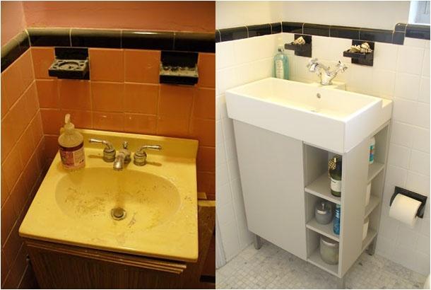 Painting Ceramic Tiles & Budget Bathroom Makeover