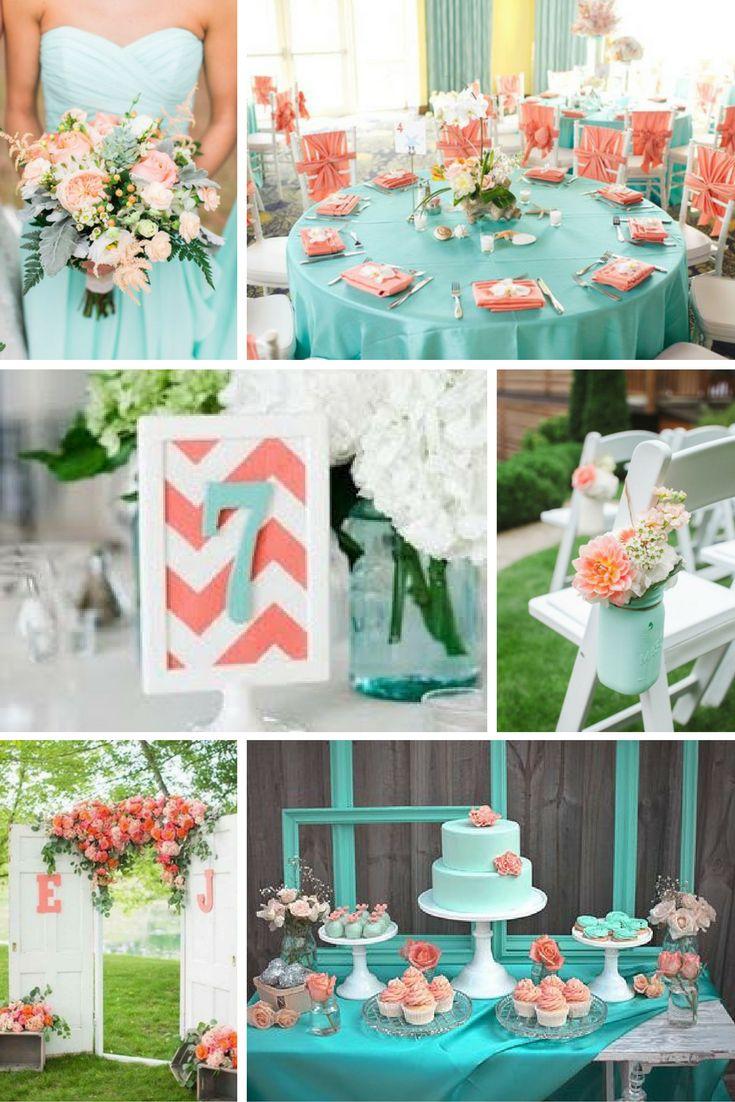 Korall és türkiz   Esküvői színek 2017 - 15 trendi színkombinációt mutatunk a tökéletes esküvői dekorációhoz. Inspirálódj velünk!