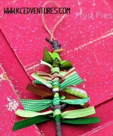 arbol de navidad de lazos - DIY Navidad con niños