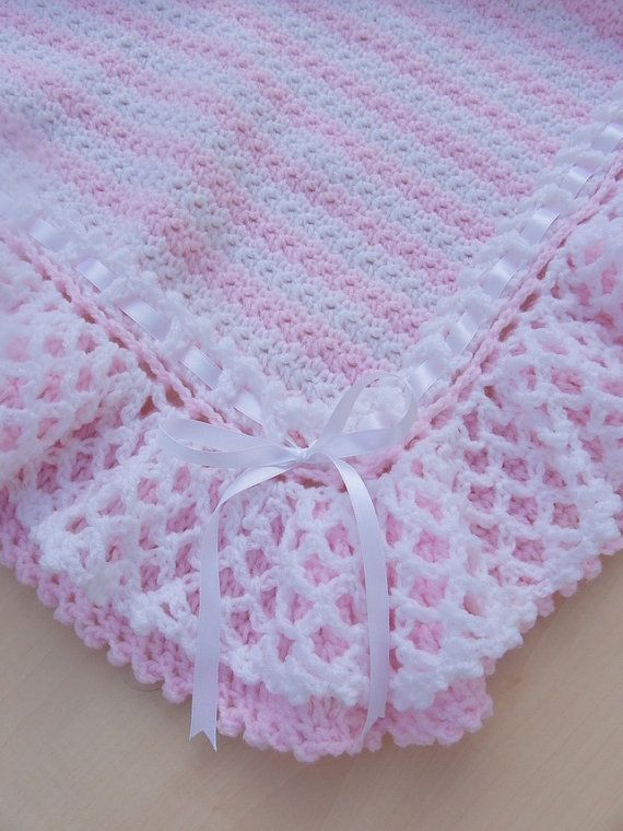 Hand crochet Baby blanket afghan  Girl by Knittingtopia on Etsy, £50.00