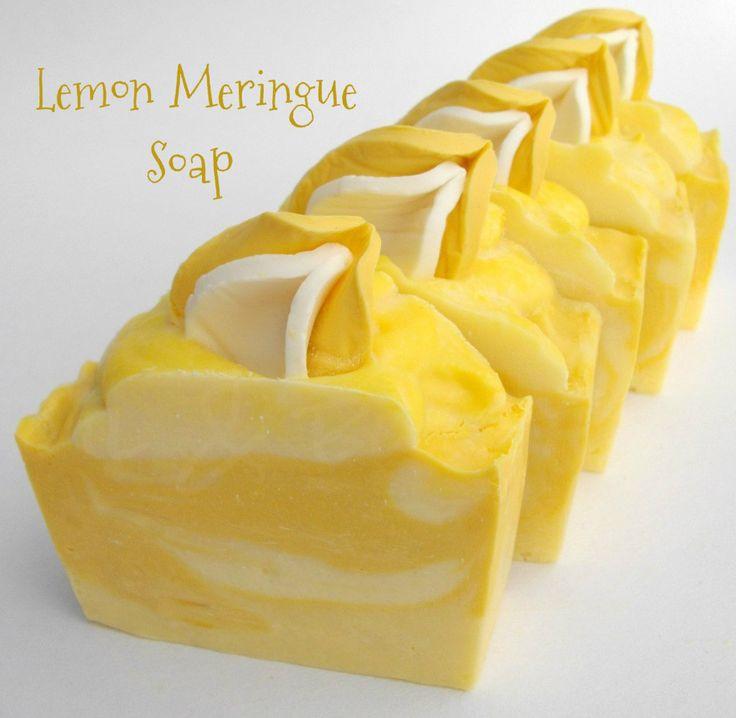 Oil & Butter: Lemon Meringue Soap - looks good enough to eat!