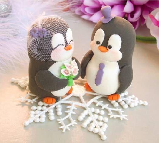 muñecos para pastel de boda con mucha creatividad