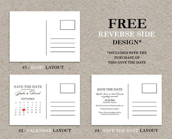 diy printable calendar save the date postcard  photo save