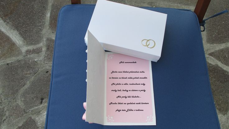 Svatební přání s krabičkou