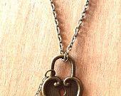Amore cuore rosso collana bottiglia in vetro collana di Maraviglie