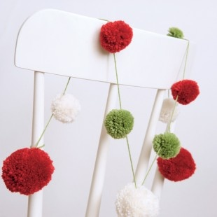 pom pom garland for Xmas