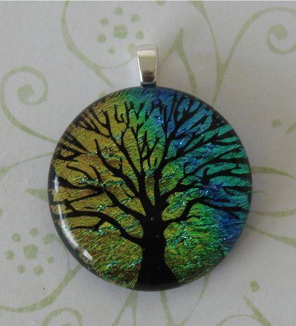 Rainbow Fused Glass Tree by FusedElegance.deviantart.com on @deviantART