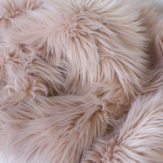 Faux Fur Throw - Blush SFFAU-002