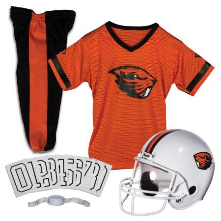 Franklin Sports Ncaa Small Oregon State Beavers Deluxe Uniform Set, Indianred/Brown/Black