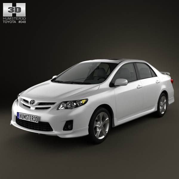 Toyota Corolla 2012 3d model from humster3d.com. Price: $75