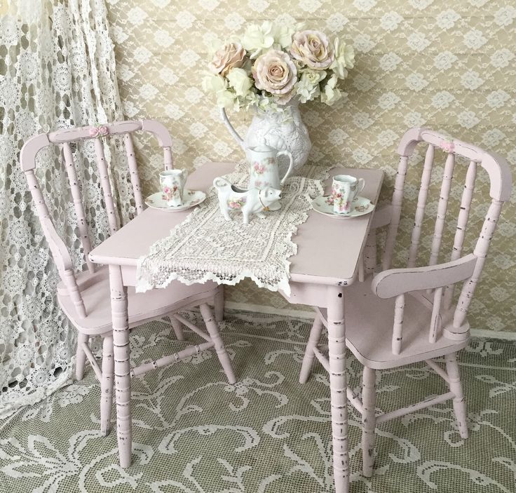 Painted Dining Table And Chairs Mix Match