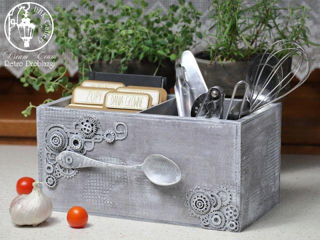 recipe box mixed media