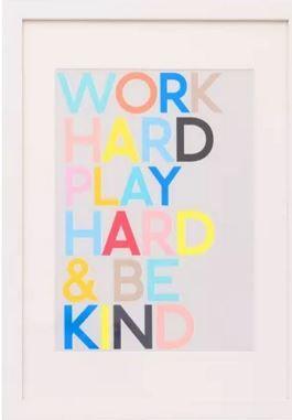Work Hard, Play Hard & Be Kind - the OB motto!