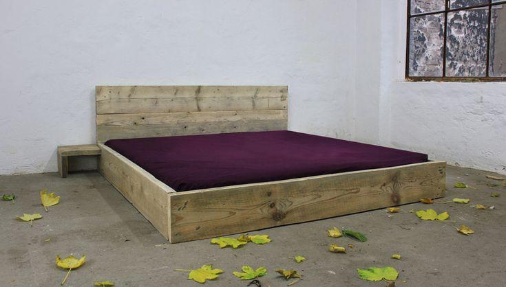 Betten - Designer Bett aus Bauholz! Shabby Chic 180 x 200 - ein Designerstück von up-cycle bei DaWanda