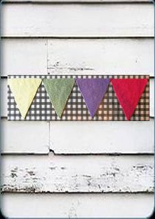 knitted bunting flags