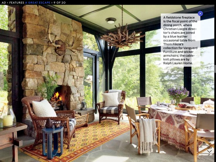 house on the shores of upper saranac lake in new adirondack mountains designed by firm shope reno wharton with interiors by thom filicia