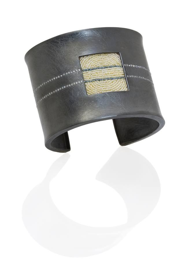 "Stunning cuff named ""A-Train,"" which was a collaboration between Todd Reed and Atelier Zobel - Peter Schmid."
