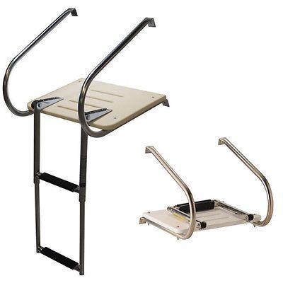 High Quality Boat Ladder Boat Inboard Fiberglass Swim Platform Ladder 2-Step