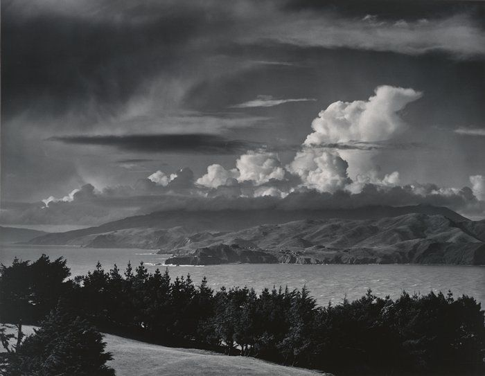 SFMOMA | Explore Modern Art | Our Collection | Ansel Adams | Marin Hills, over the Golden Gate from Lincoln Park, San Francisco