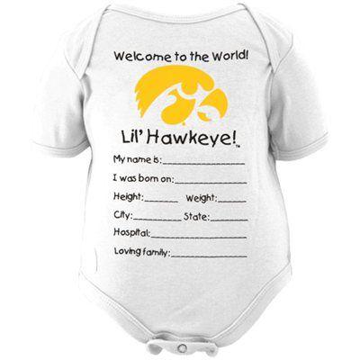 Iowa Hawkeye Children S Clothing