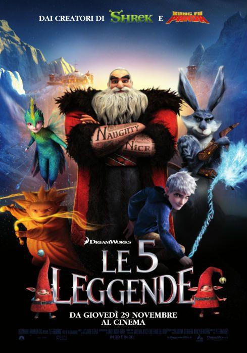 """E se ci fosse di più, dietro le storie di Babbo Natale (Alec Baldwin), del Coniglietto di Pasqua, Calmoniglio (Hugh Jackman), della Fata del Dentino, Dentolina (Isla Fisher) e di Sandman, Sandy, di quanto avessimo mai creduto fin'ora? Che cosa succederebbe se i portatori di doni tanto meravigliosi, come uova, denaro e sogni, fossero molto di più di ciò che sembravano? Ne """"Le 5 Leggende"""", della DreamWorks Animation, tutto questo troverà risposta!"""