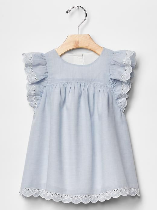 Shop for Eyelet flutter dress by Gap at ShopStyle. Now for Sold Out.