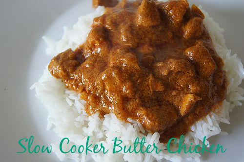 Slow Cooker Butter Chicken - easy and delicious recipe for a mild Indian family friendly dish.