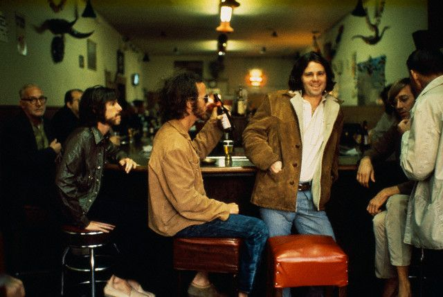 The Doors drinking with the locals at the original Hard Rock Cafe in Los Angeles