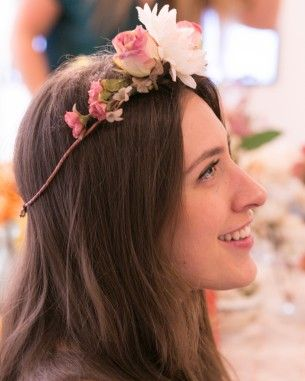 Making Floral Crowns at Erin Fetherston's Cosabella Launch Party and more on MarthaStewart.com
