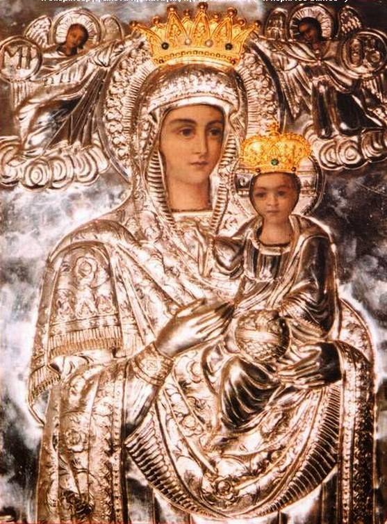 """Προσκυνητής: Η εικόνα της Παναγίας της Αρεθιώτισσας (""""Η Κυρία του Βάλτου"""")notre…"""