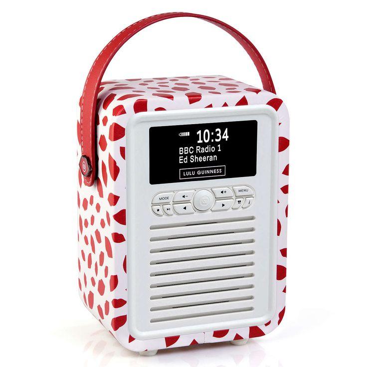 BuyVQ Retro Mini DAB/FM Bluetooth Digital Radio, Lulu Guinness Design, Red Lips Online at johnlewis.com