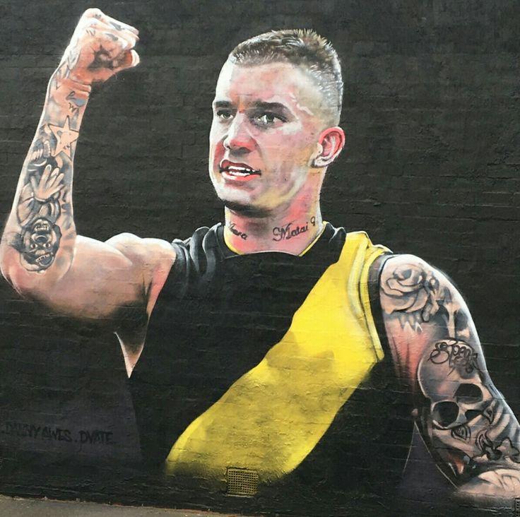 Dustin Martin mural, Rowena Parade, Richmond