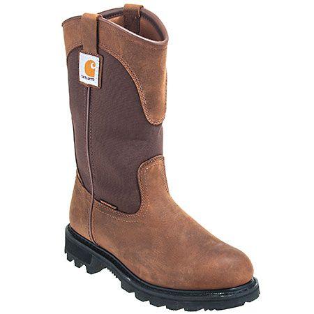 Carhartt Boots Women's Waterproof CWP1150 Bison Leather EH Wellington