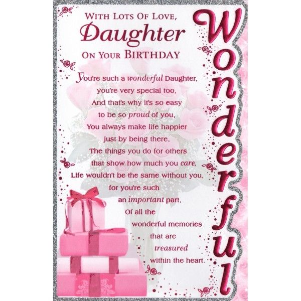 217 best BIRTHDAY DAUGHTER images – Birthday Daughter Card