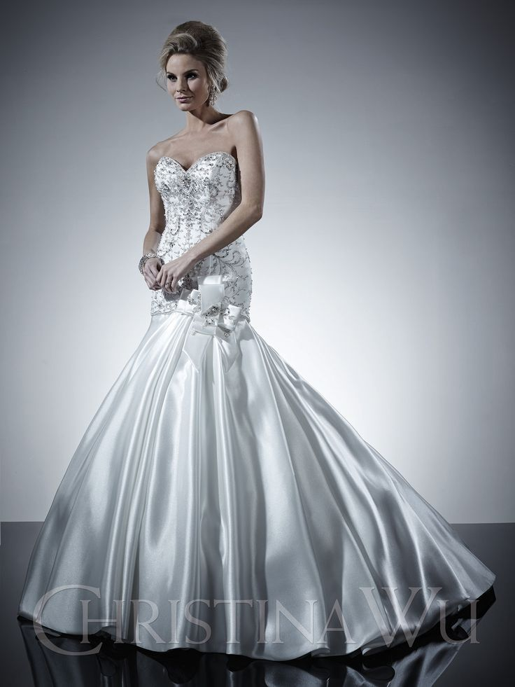 Top 25 ideas about christina wu on pinterest seasons for Wedding dress styles for big hips