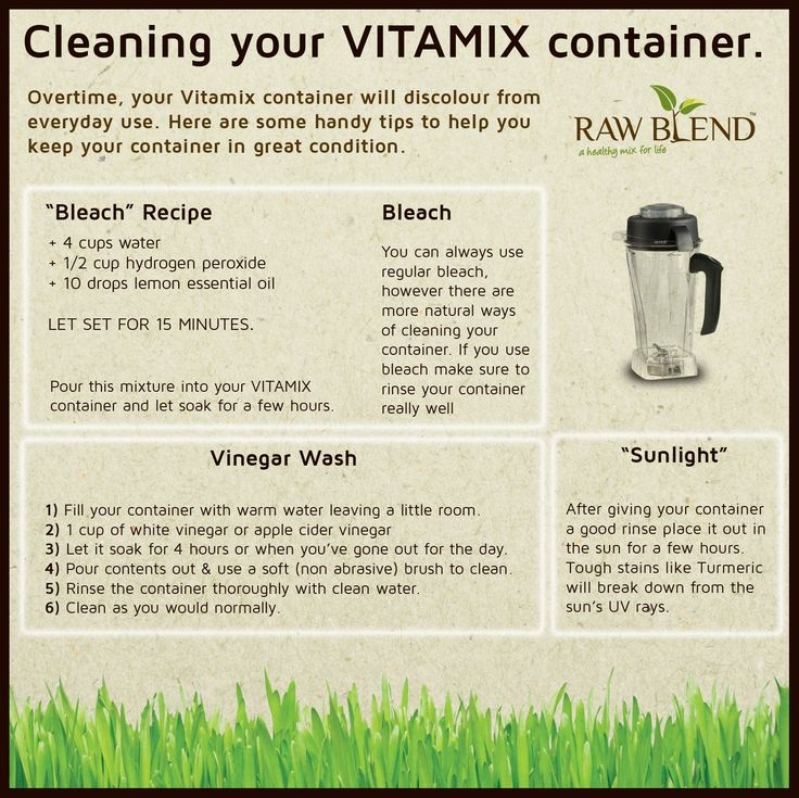 We get this question a lot from customers who have stains on their Vitamix container from overuse or  from spices such as Turmeric. Overtime, your Vitamix container will build up some scale from everyday use so here are some handy tips on how to keep your Vitamix container clean. Bleach Some people use normal bleach …