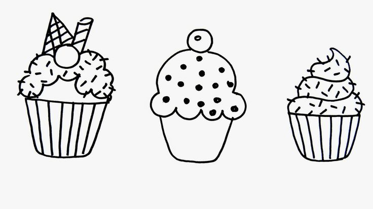 Cute coloring pages of cupcakes