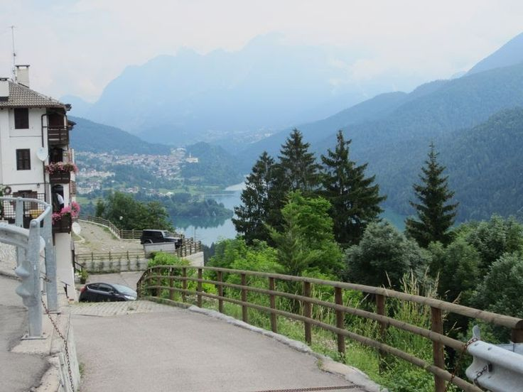 Blick auf den Lago di Caldonazzo, Pieve di Cadore Provinz Belluno, Italien