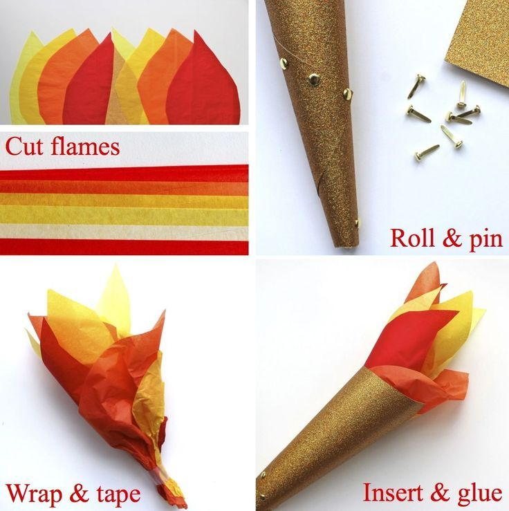 Olympic torch craft for winter or summer. Olympics.