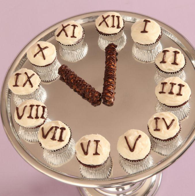 New Years Eve Cupcake Clock
