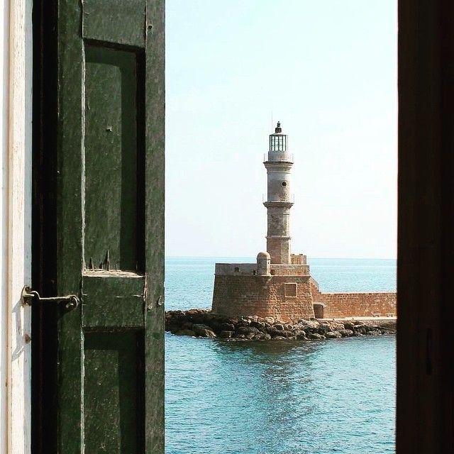 A window to cross the life! Photo credits: @creteisland #Crete