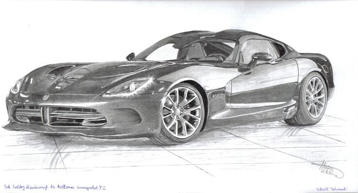 Dodge Viper drawing for my classmate   #viper #car #graphite