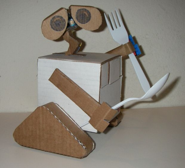 how to make a robotic hand with cardboard