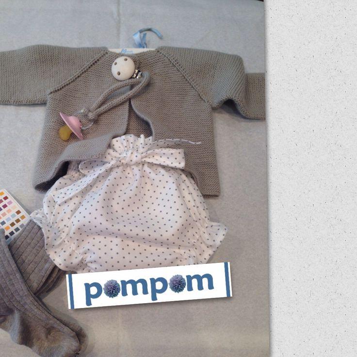 Conjunto ranita #pompom #chaqueta pompom #chupetero #hechoamano
