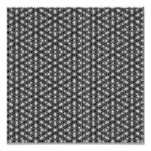 Flower Of Life Intricate Weave #3 Poster