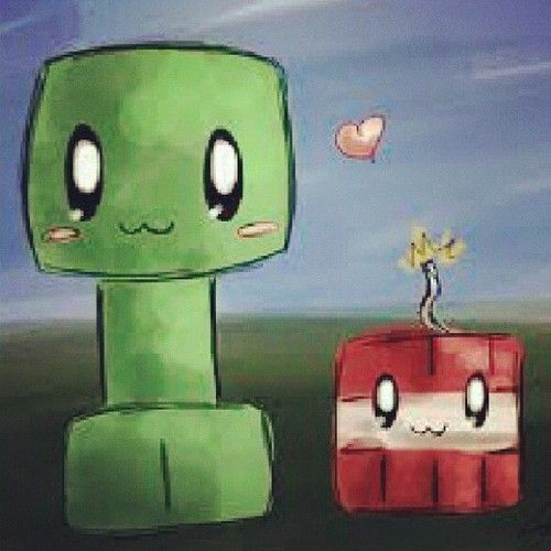 Cute creeper and TNT