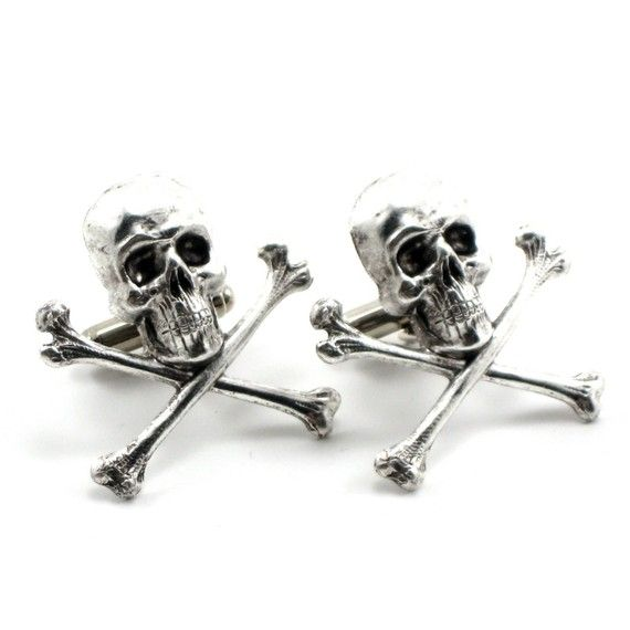 Gothic Pirate Wedding Cuff Links with Antiqued by ghostlovejewelry, $35.00 MATT LOOK!