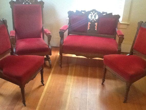 Eastlake Furniture 1800s by DJ on Etsy · Selling OnlineRed VelvetAntique ... - 60 Best Antique Furniture Images On Pinterest Antique Furniture